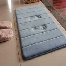 Memory Foam Bathroom Rugs Bathroom Large Rectangular Grey Memory Foam Bath Rugs For