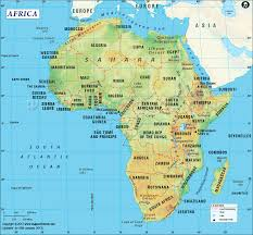 africa map landforms warnergeography map work expectations