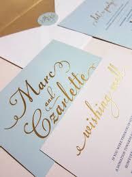 light blue wedding invitations light blue with gold foil wedding invitation deposit tiffany
