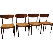 set of 4 mid century danish modern teak dining chairs sold on