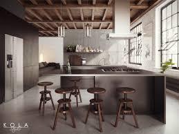 visualization of a loft kitchen freelancers 3d