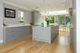 shaker style kitchen ideas modern galley kitchen design blue