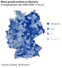 map of regions of germany even at 4 percentage points faster growth germany s weakest