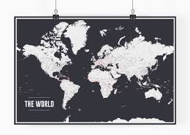 World Map Poster Large Witching Paint Splashes World Map Art Print Poster Not Paint