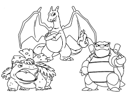 pokemon blastoise coloring pages print pokemon