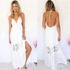 Cheap Summer Clothes For Women Women Summer Boho Lace Long Maxi Evening Party Dress Beach