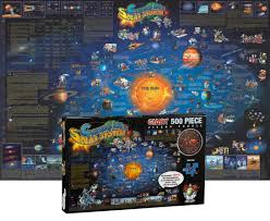 Solar System Map Solar System 500 Piece Puzzle 24