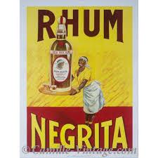 affiche cuisine vintage poster rhum négrita