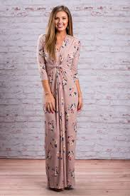 short sleeve twist floral maxi dress slate gray the mint julep