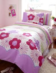 girls pink bedding sets pink u0026 lilac girls double duvet set with flowers u0026 butterflies