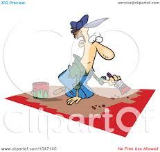 painting a floor royalty free rf clip art illustration of a cartoon man painting