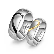 matching wedding rings for him and lover s matching heart tungsten carbide men women promise real