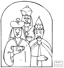 Wise Men Came With Gifts To Worship Little Jesus Three Wise Men Wise Worship Coloring Page
