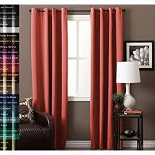 Coral Blackout Curtains Flamingop Thermal Insulated And Heating Against