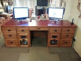 2 Monitor Computer Desk Dual Monitor Computer Desk 11 Astounding Dual Computer Desk With