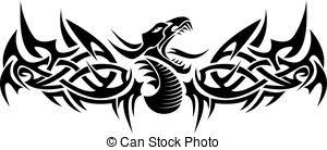 dragon tribal tattoo clip art vector search drawings and