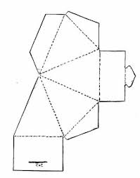 triangle box template chirstmascountdown diy pinterest