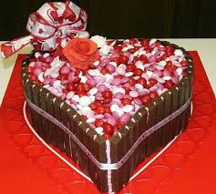 valentine candy cake is darn good chocolate cake filled and