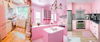 2 delicate pink kitchen interior pink paint and interiors