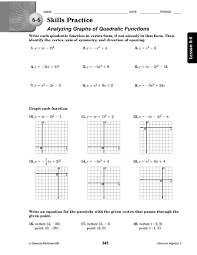 graph quadratic equations worksheet free worksheets library