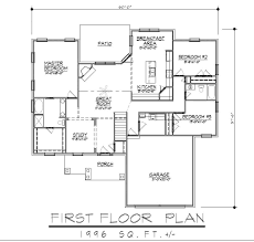 Ranch Rambler by 100 Floor Plans Ranch I Like The Foyer Study Open Concept