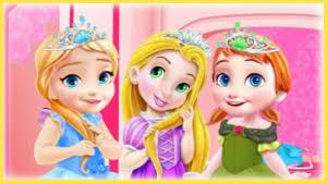 princess elsa anna and rapunzel baby room decoration video game