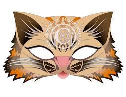 printable halloween masks wild cat by dimensions of wonder