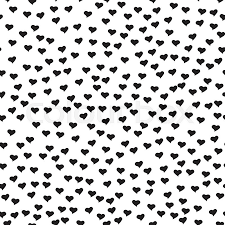 wedding backdrop design vector seamless pattern with tiny black hearts abstract