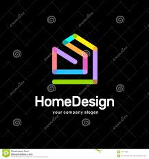 abstract house vector logo template colorful sign home design