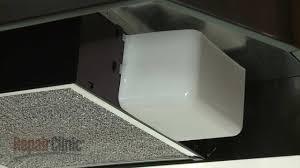 range hood light bulb cover nutone range vent hood replace light lens cover sr401650 youtube