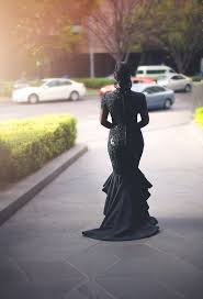 Black Wedding Dress Bride Ditches Tradition And Wears Stunning Black Wedding Dress