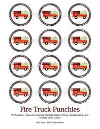 firefighter cupcake toppers truck birthday door sign 8 00 via etsy party hearty