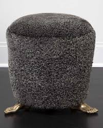 foot stool foot stools kelly wearstler and solid brass