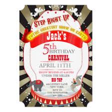 vintage circus invitations announcements zazzle