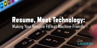 Making Online Resume by Resume Meet Technology Making Your Resume Format Machine