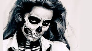 Skeleton Face Painting For Halloween by Skull Makeup Czaszka Na Halloween Youtube