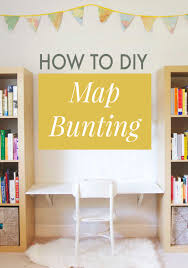 diy how to make your own map bunting annabode co