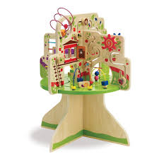 wooden bead toy table amazon com manhattan toy tree top adventure activity center toys