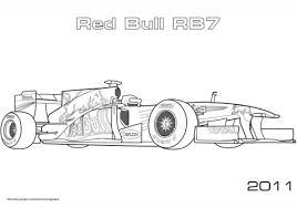 red bull rb7 formula 1 racing car coloring free printable