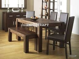 Indian Dining Room Furniture British Colonial Rosewood Round Table - Dining room chairs and benches