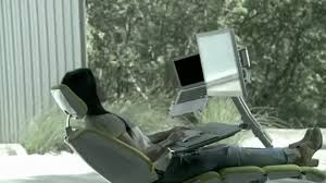 all in one desk and chair video forget standing desks this office workstation lets you work