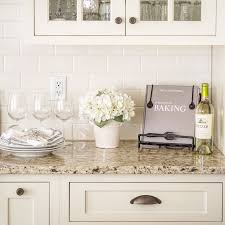white kitchen tiles ideas venetian gold light granite with white subway tile and