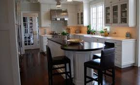 rounded kitchen island kitchen island with a dining table at the end