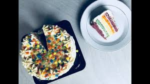 rainbow cake hervé cuisine le rainbow cake de chez picard