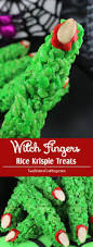 witch fingers rice krispie treats two sisters crafting