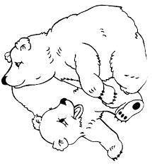 dessin à colorier petit ours brun noel