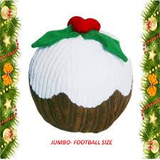 buy the happy pet jumbo christmas pudding dog toy here