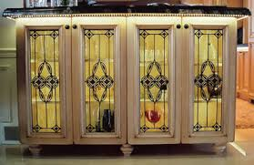 Residential Stained Glass Fused Glass Beveled Glass Windows And - Leaded glass kitchen cabinets