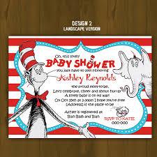 dr seuss baby shower invitations dr seuss cat in the hat baby shower invitation on storenvy