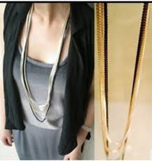 long necklace chains images Multi layer necklace gold chain long necklaces women jewelry jpg